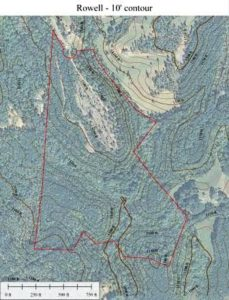 lake lure contour map
