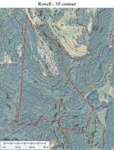 lake lure contour map